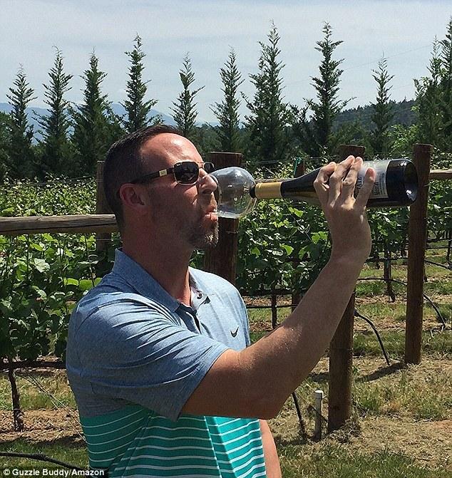 wine bottle glass - guzzle buddy 5-1