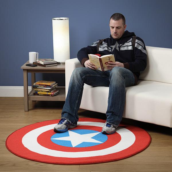 Famous Captain America Rug Turns Any Room Into a Superhero Headquarters NB09