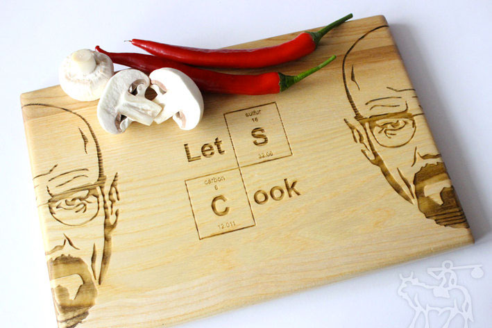 face of Walter White cutting board